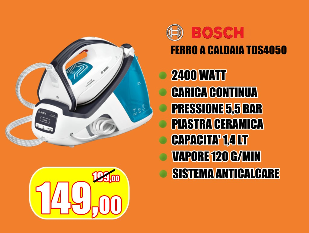 Caldaia a carica continua Bosch con pressione massima 5,5 bar