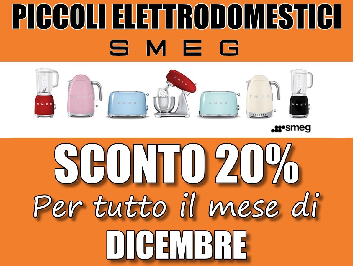 20% di sconto su tutti i piccoli elettrodomestici SMEG per tutto il mese di dicembre 2018