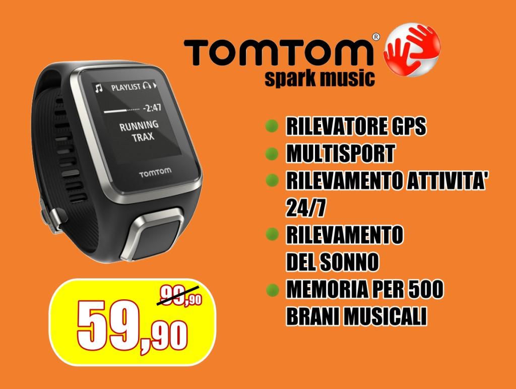 Orologio smartwatch Tomtom con rilevatore gps e rilevamento automatico del sonno